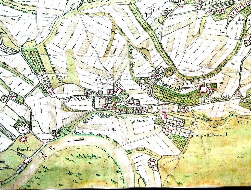 La manufacture d'indienne se trouvait sur la propriété du Sieur Lambrecht à la Robertsau